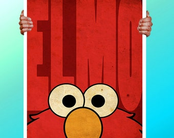 Elmo Face  - Art Print / Poster / Cool Art - Any Size