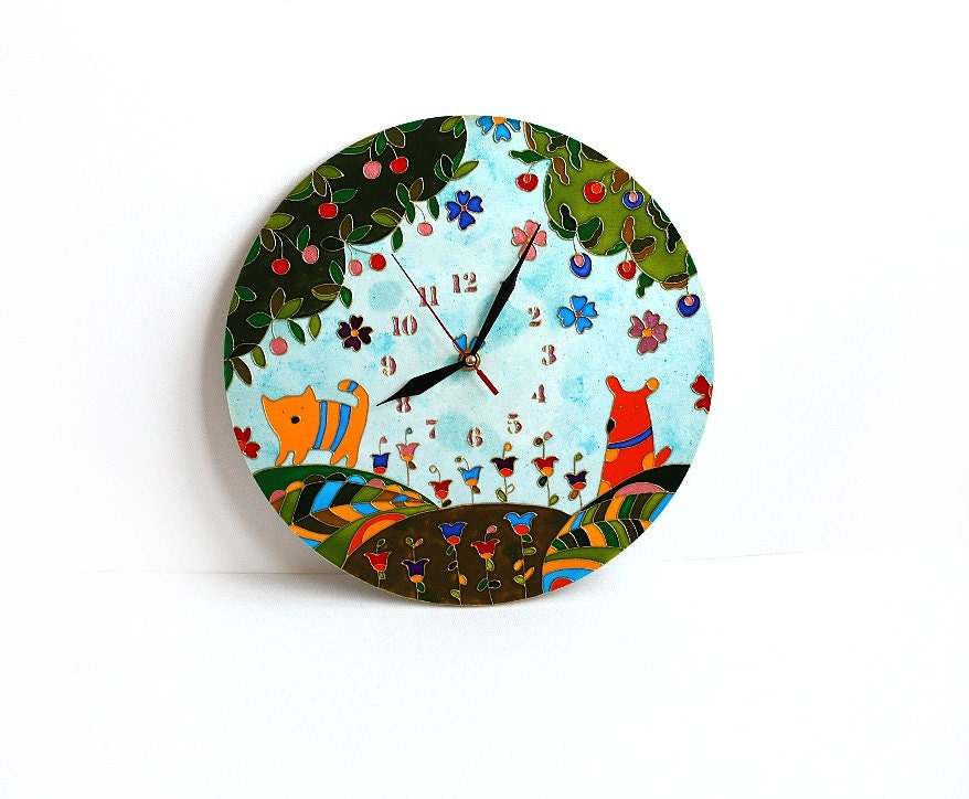 Wall clock dial kids wall decor children39s clock with for Wall clock images for kids