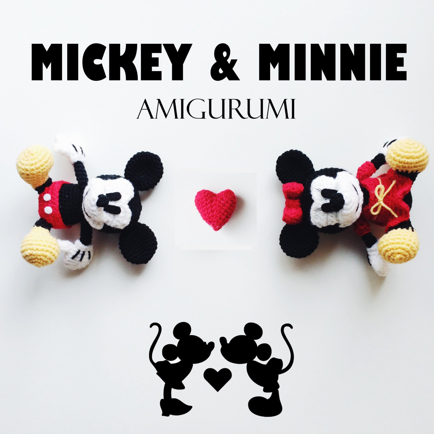 Baby Mickey Amigurumi Pattern : Mickey & Minnie Mouse Amigurumi Crochet Pattern by ...