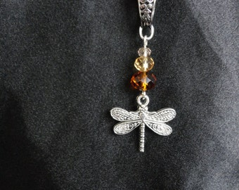 Outlander Inspired Necklace, Dragonfly In Amber Themed.