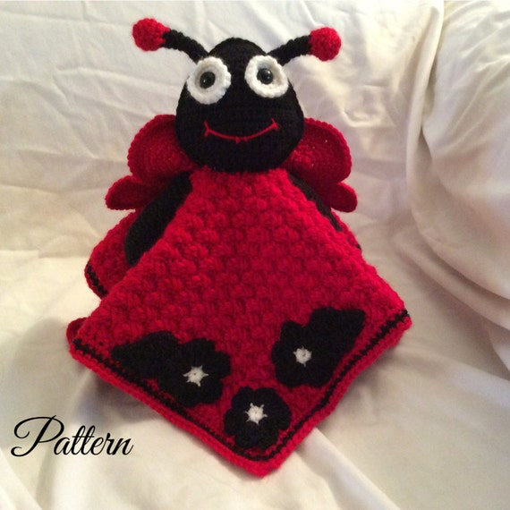 Ladybug Lovey Security Blanket Crochet Pattern lovey