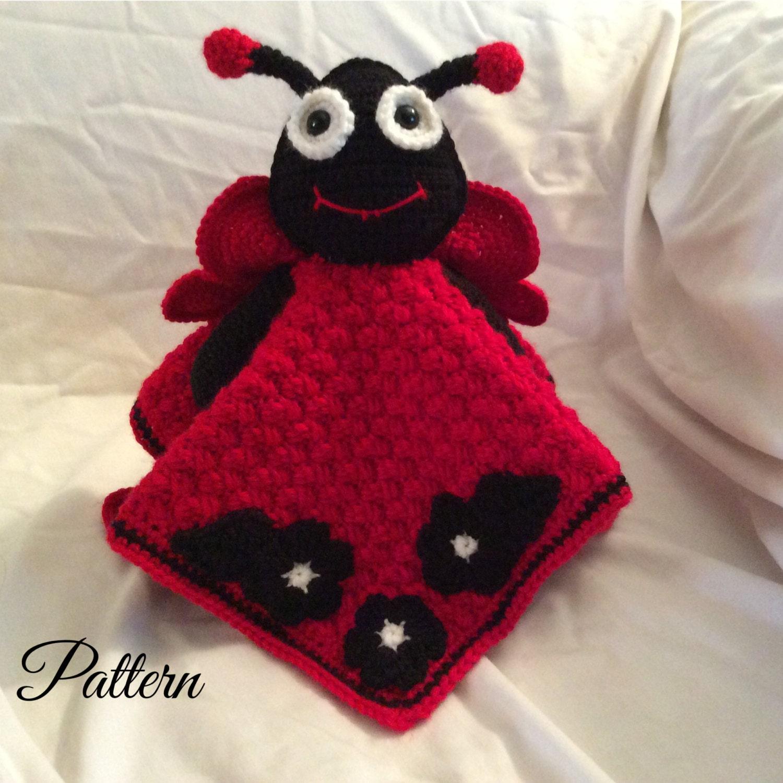 Ladybug Lovey Security Blanket Crochet Pattern lovey