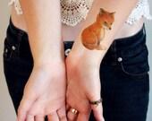 Small fox temporary tattoo / boho temporary tattoo / fox gift idea / boho gift idea / fox tattoo / fox fake tattoo / fox accessoire / fox