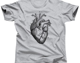 Heart Diagram Anatomical Heart Shirt - Med Student Gift - Valentines Day Shirt - Cardiologist Gift (See SIZING CHART in Item Details)