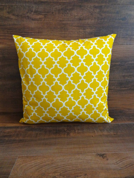 mustard yellow decorative pillow cover 16x16 by homesweetboutique. Black Bedroom Furniture Sets. Home Design Ideas
