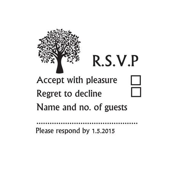 Rsvp stamp wedding rsvp custom wedding stamp by for Wedding rsvp cards stamps