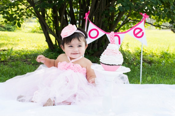 Gorgeous Beautiful Light Pink Yellow or Lavender Flower Tutu Dress for Baby Girl 6-18 Months First Birthday