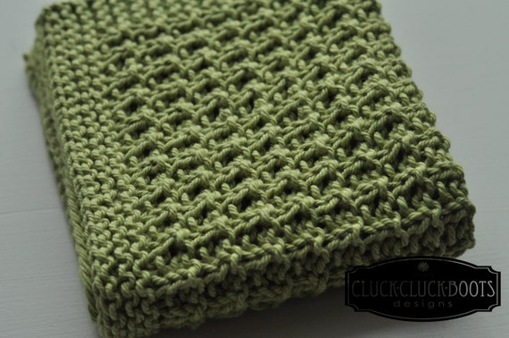 Washcloth / Dishcloth Knitting Pattern Summer by CluckCluckBoots