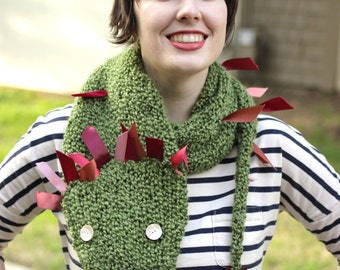 Green and Pink Carnival Dragon Scarf