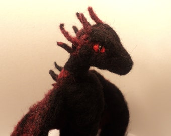 Made to order: Drogon, Needle felted Dragon from Game of Thrones soft sculpture