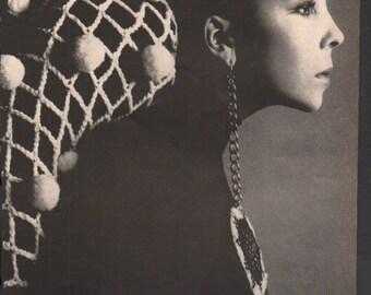 Vogue circa 1960s Penelope Tree model fashion photo 1 page - cele122