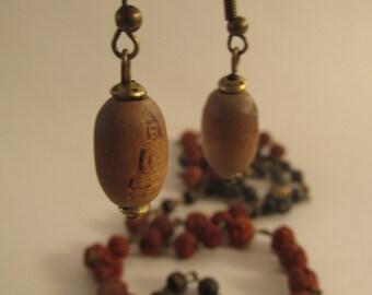 2033- Earrings Wood