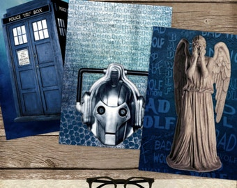 Doctor Who Digital Collage Sheet, Doctor Who Journal cards, Doctor Who Scrapbook Paper, Scrapbooking cards, INSTANT DOWNLOAD
