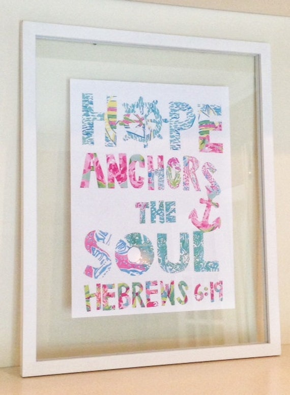 lilly pulitzer quote print in glass float frame