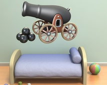 Wall decals pirate cannon A289 - Stickers canon pirate A289