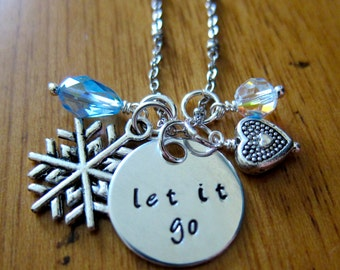"""Frozen Inspired Necklace. """"Let It Go"""" Necklace. Silver colored. Swarovski Elements Crystals. Let It Go. Let It Go gift. Frozen gift. *"""