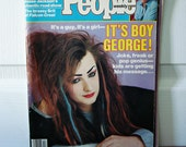 Vintage 1984 People Magazine- It's Boy George! On the Front Cover!  - Full Magazine