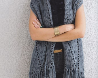 SIMPLE RECTANGLE SHRUG