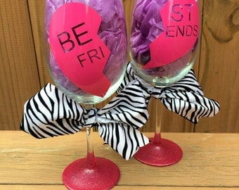 Best Friends Wine Glasses Set of 2