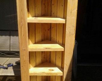 Reclaimed Wood Corner Shelf
