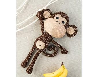 Patrick the Monkey Toy Sewing Pattern 803603