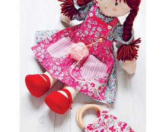 Floral Dress for Doll Sewing Pattern (803535)