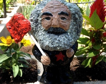 Karl marx solid garden gnome gartenzwerg 8 inch german for Combat gnomes for sale