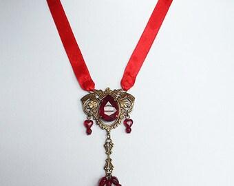 Rubies Teardrop necklace