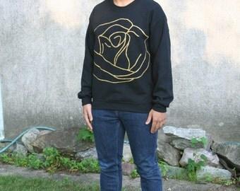Men's Gold Giant Rose Sweatshirt