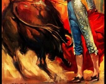 "Bullfighting - Plaza De Toros De Jerez #1 Canvas Art Poster 12""x 24"""