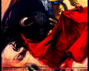 "Bullfighting - Plaza De Toros De Sevilla #1 Canvas Art Poster 12""x 24"""