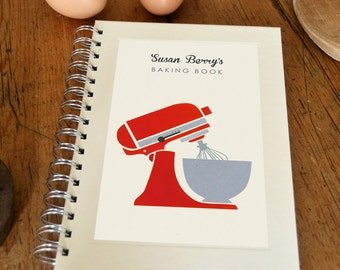 Personalised Mixer Cook's Notebook (3 colours available)