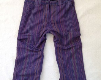 women's baja stripe cropped pant