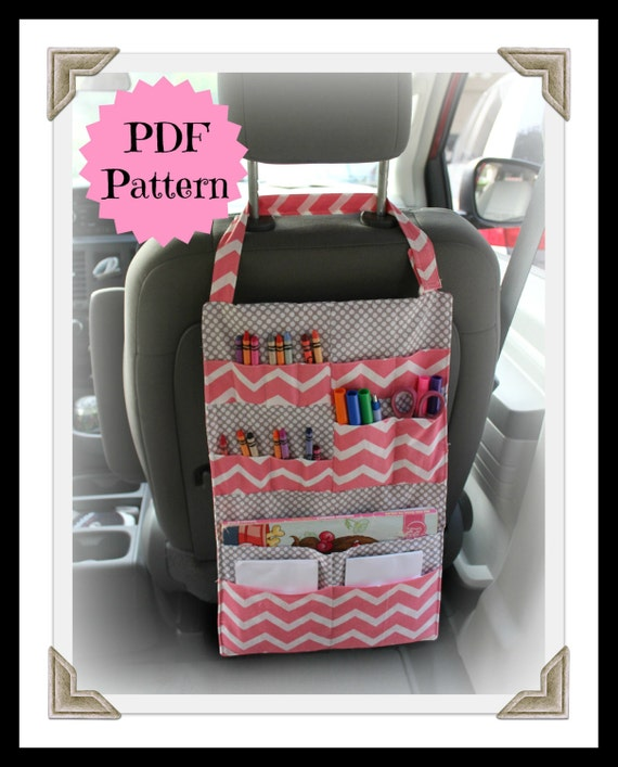 tutorial kids car organizer pattern activity portfolio crayon holder instant download