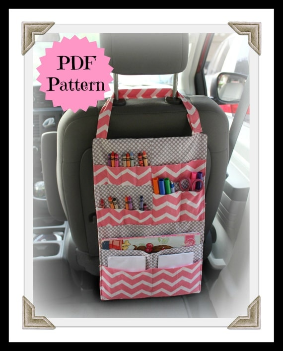 PATTERN - Kids Car Organizer - Activity Portfolio - Crayon Holder - INSTANT DOWNLOAD