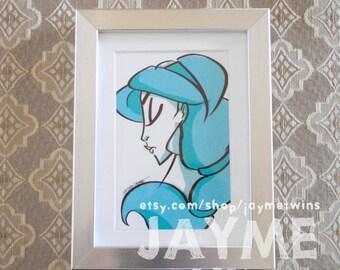 JASMINE - 4x6 Print - Character Profile Series - Princess Set