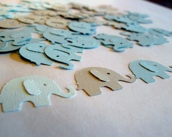 Elephant Party Confetti - Light Blue Pastels, Baby Shower, Birthday Party, First Birthday, Photo Prop