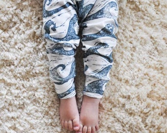 organic baby leggings, baby pants, baby leggins, toddler pants, organic toddler leggings, waves, ocean, beach, blue waves, organic baby