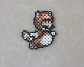 Tanooki Suit Mario - Super Mario Perler Bead Sprite