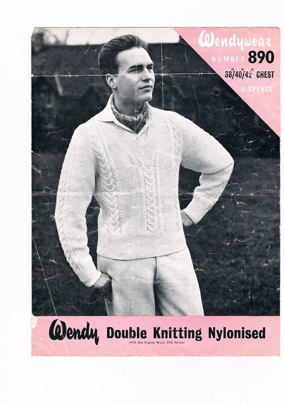 Knitting Pattern For Cricket Sweater : Mens Cricket Sweater Vintage Cricket Jumper Knitting Pattern