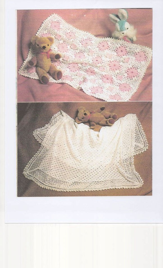 Crochet Pattern For Dolls Pram Blanket : Crochet Daisy Pram Blanket Crochet Daisy Cot Blanket Knitted