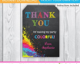 Art Party favor tags / Art Party gift tags / Art Party Decoration / Art Party Printable / Art Party label / Art Party tag / INSTANT DOWNLOAD