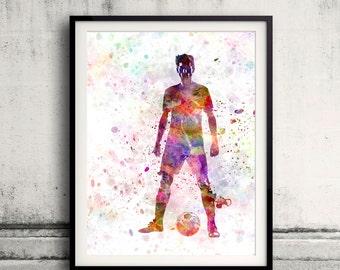 soccer football player young man standing defiance - SKU 0872