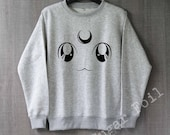 Sailor Moon Shirt Luna Sweatshirt Hoodie Sweater Unisex - Size S M L XL