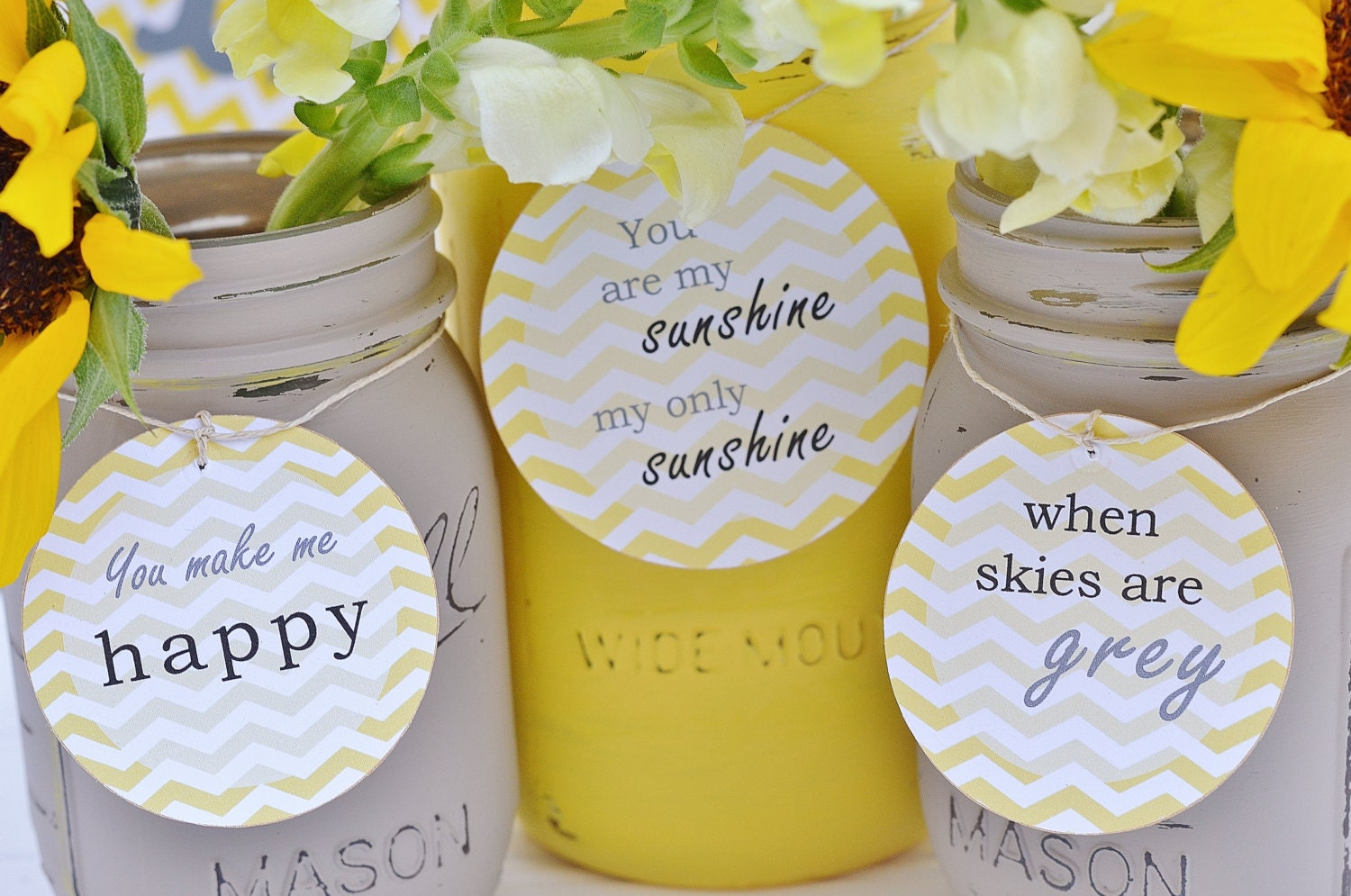 cards for mason jars you are my sunshine centerpiece baby