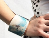 Wooden Bird Bracelet - Wooden Jewellery - Eco Friendly Jewellery - Flying Bird Jewelry - Sky Bracelet - Soaring Seagull