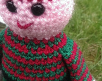 Crochet Pattern, Ethelred the Unready Elf, PDF with Tutorials, UK terms