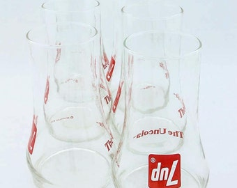 Vintage 1970s 7UP Uncola Glassware – Set of 6