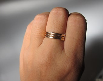 Hammered Stacking Ring (Choose Sterling Silver or 14K Goldfill)