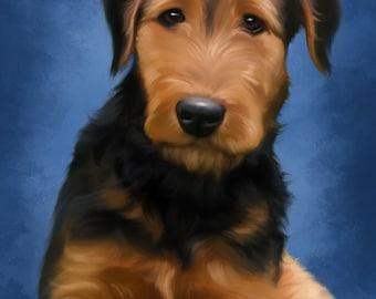 Custom pet portrait. Digital painting, Hand painted